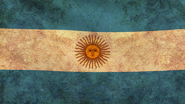 Argentina Flag 2 Pack Grunge and Retro