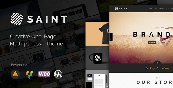 ThemeForest Saint Creative One-Page Multi-purpose Theme 9214429