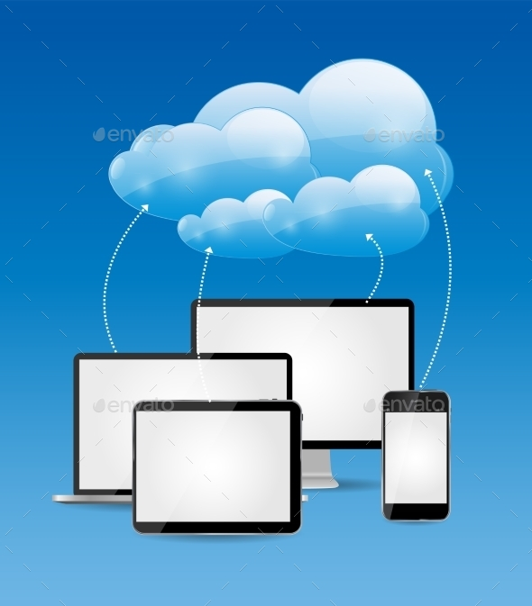 GraphicRiver Cloud Computing Business Concept Vector 9214440