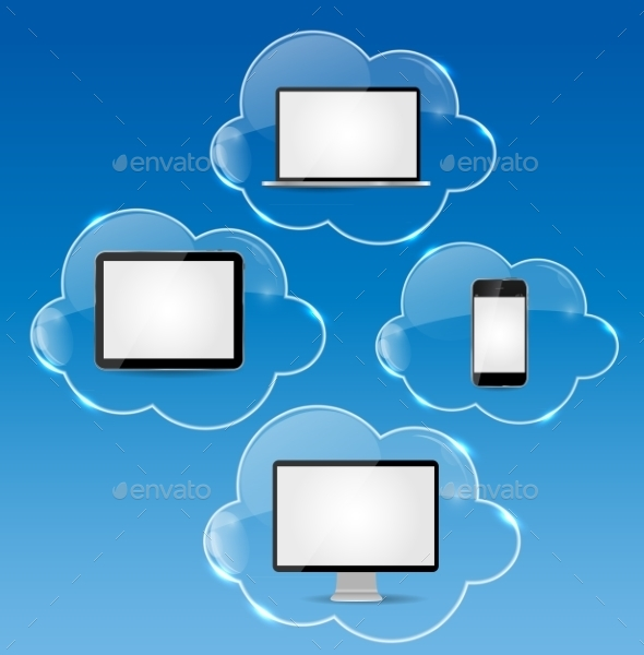 GraphicRiver Cloud Computing Business Concept Vector 9214458