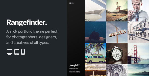 Rangefinder is a slick portfolio theme designed with photographers and designers in mind. The grid-based home page launches users directly into your portfolio,