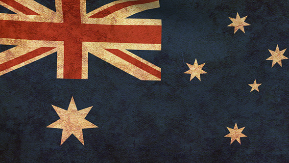 Australia Flag 2 Pack Grunge and Retro