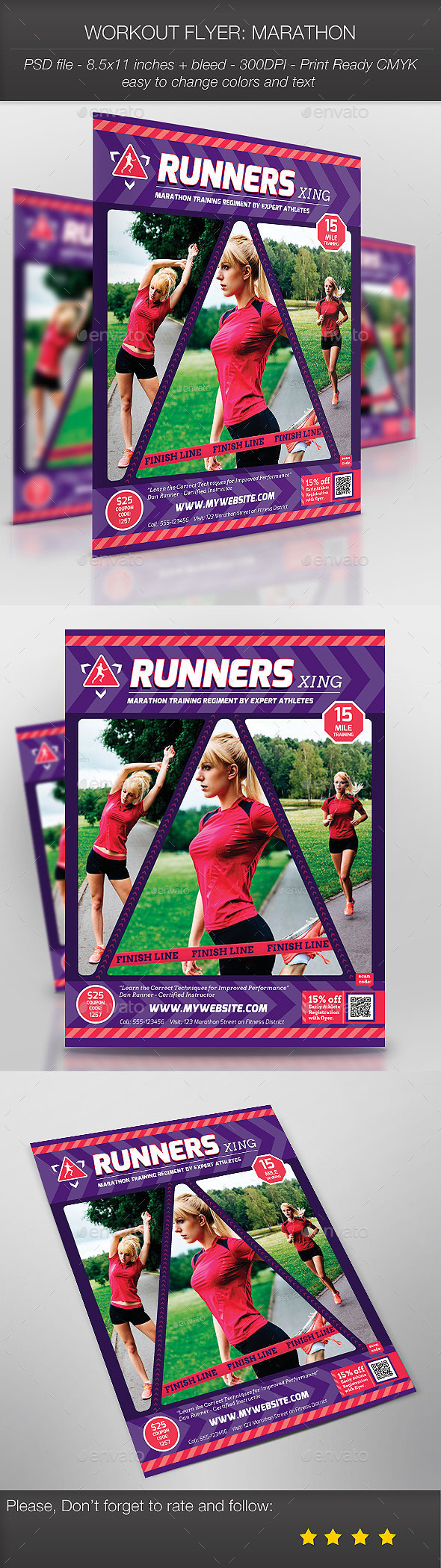 GraphicRiver Workout Flyer Marathon 9214529