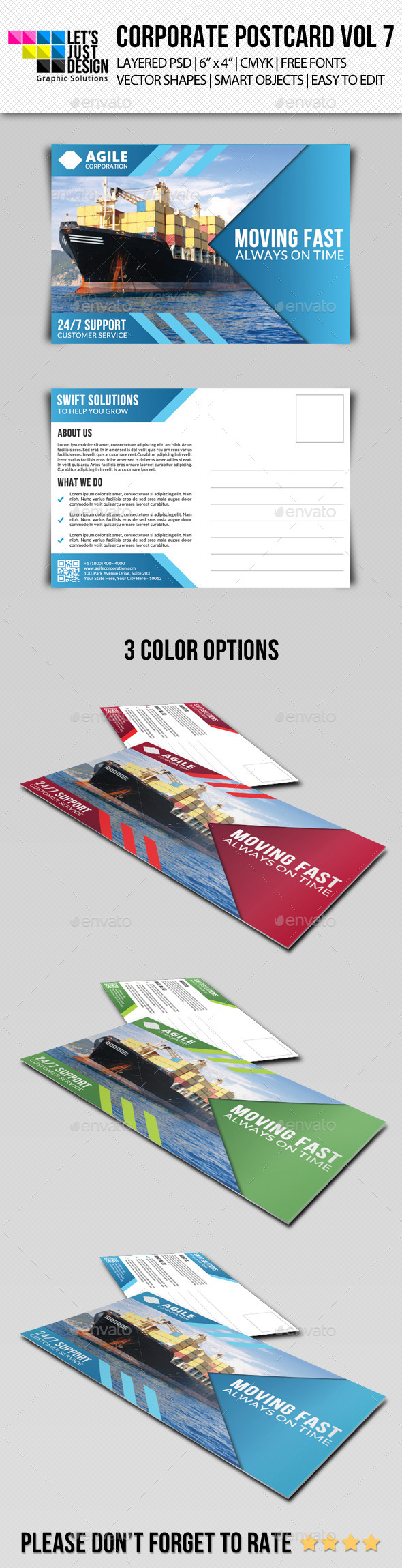 GraphicRiver Corporate Postcard Template Vol 7 9214724