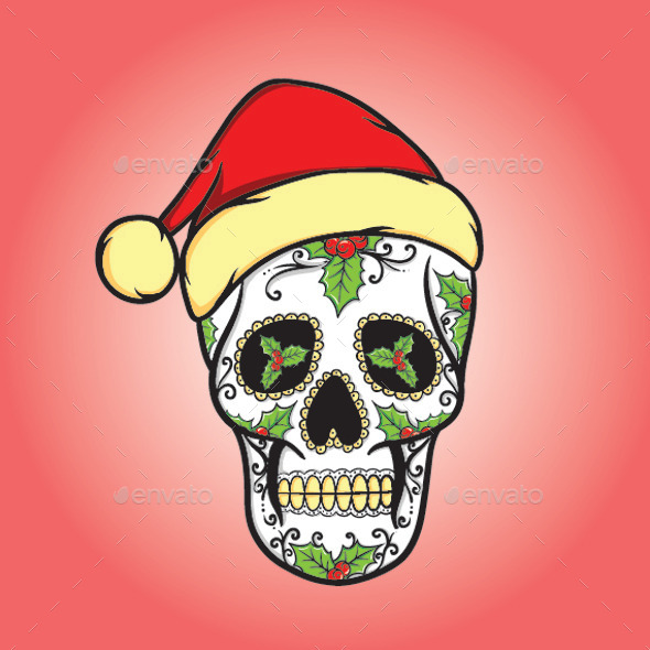 GraphicRiver Christmas Skull 9214866