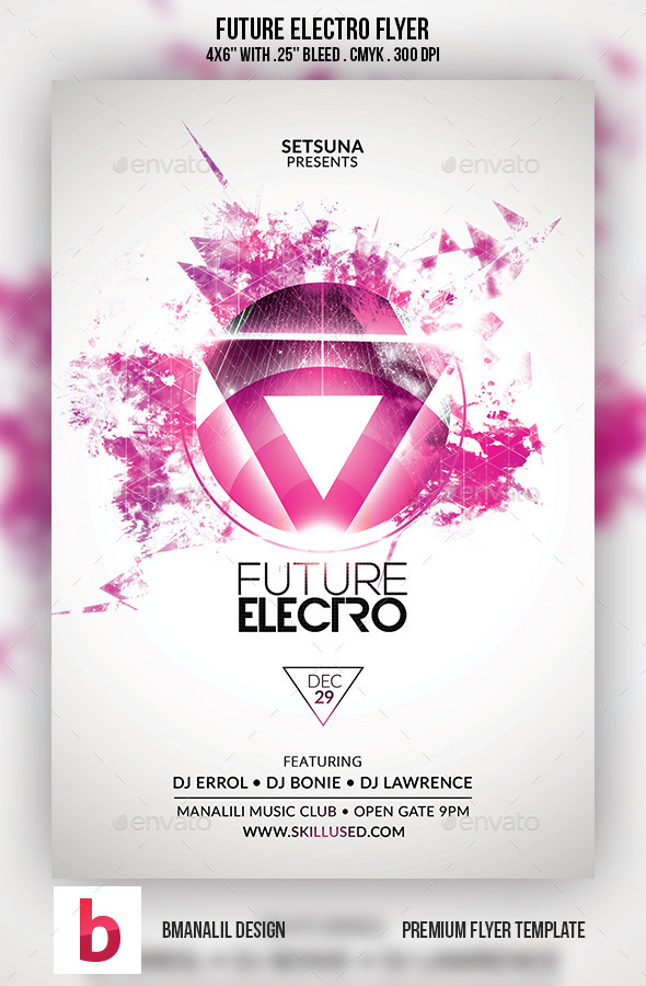 GraphicRiver Future Electro Flyer 9215150