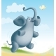 Elephant and Butterfly - GraphicRiver Item for Sale