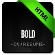 Bold - CV / Resume Template - Minimal & Smart - ThemeForest Item for Sale