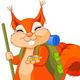 Squirrel Traveler - GraphicRiver Item for Sale