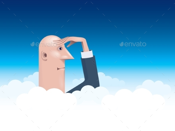 GraphicRiver Businessman Looking Forward 9215218
