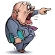 Boss. Screaming Angry Man Pointing Out - GraphicRiver Item for Sale