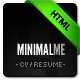 MinimalMe – Minimal HTML CV / Resume Template