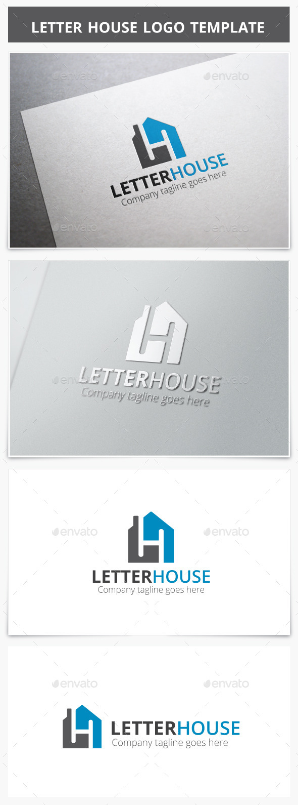 GraphicRiver Letter House Logo 9215656