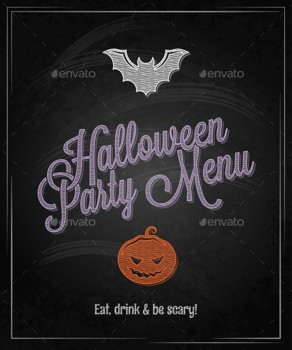 GraphicRiver Halloween Party Menu 9215736