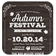 Vintage Autumn Festival Flyer - 3PSD - GraphicRiver Item for Sale