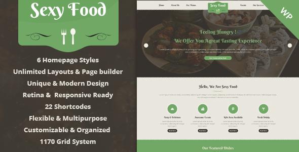 Sexy Food - Food & Restaurant WordPress Theme