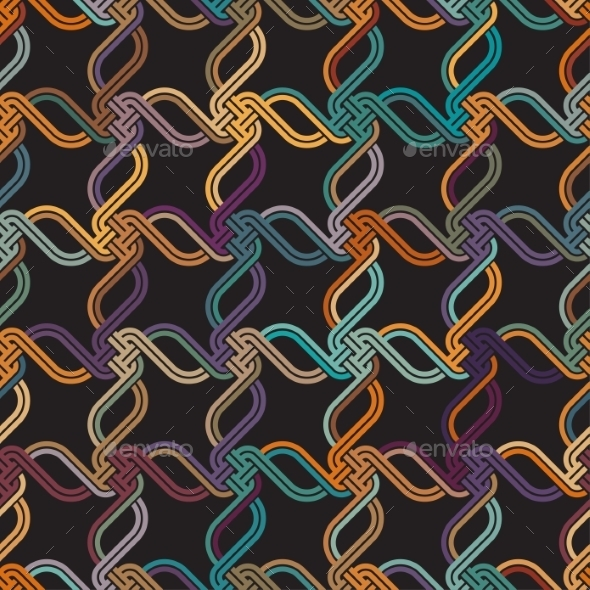 GraphicRiver Macrame Color Seamless Pattern 9216035