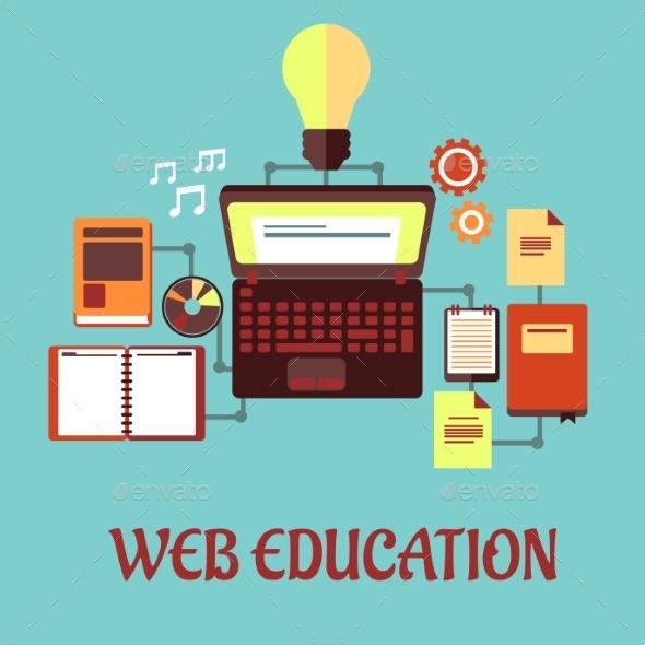 GraphicRiver Web Education Flat Concept 9216038