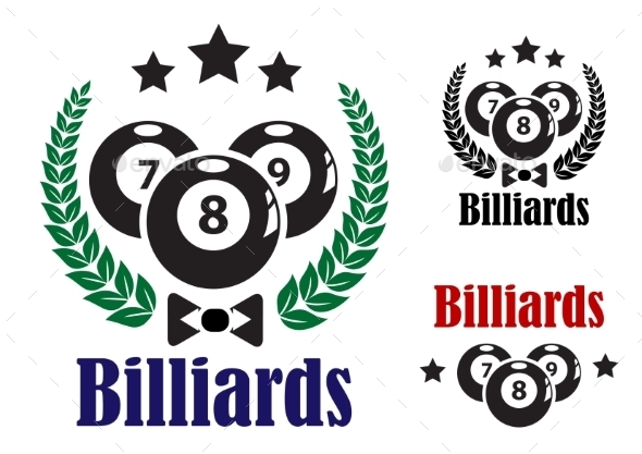 GraphicRiver Billiards Badges or Emblems 9216049