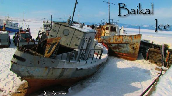 Ships In Frozen Lake