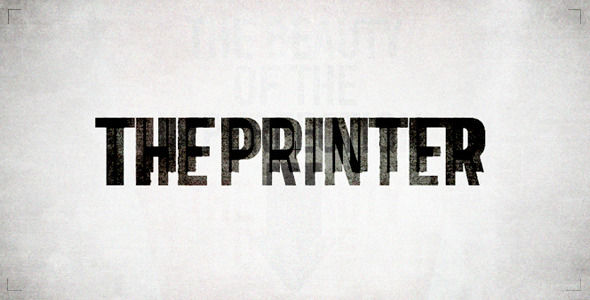 After Effects Project - VideoHive The Printer 895048