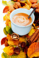 cozy cup of coffee and autumn leaves - PhotoDune Item for Sale