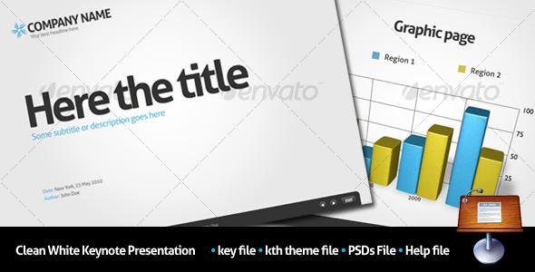 GraphicRiver Clean White Keynote Presentation 106790