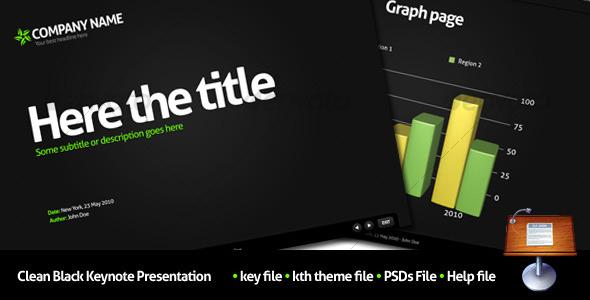 Clean Black Keynote Presentation - Keynote Templates Presentation Templates