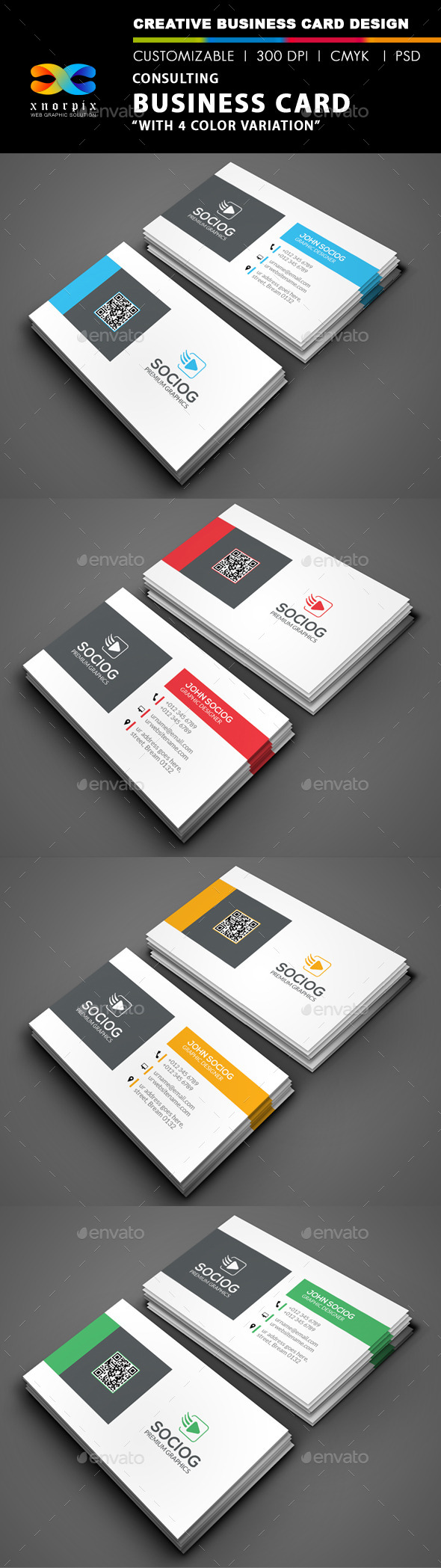 GraphicRiver Consulting Business Card 9216813