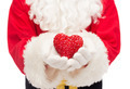close up of santa claus with heart shape - PhotoDune Item for Sale