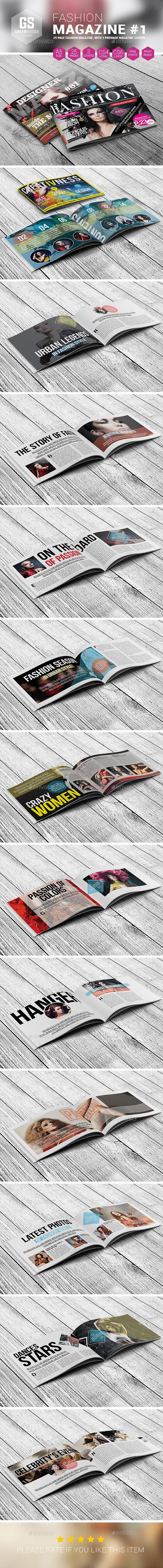 GraphicRiver Landscape Fashion Magazine #1 9189560