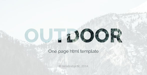 ThemeForest Outdoor OnePage Responsive Template 9217205