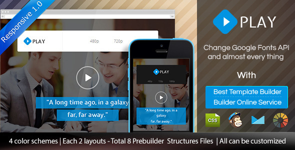 ThemeForest Play Responsive Video Email Template & Builder 9186650