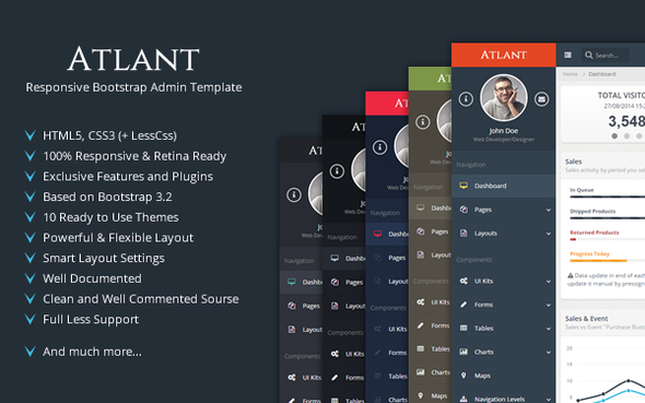 ThemeForest Atlant Responsive Bootstrap Admin Template 9217590