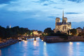 Notre Dame de Paris at night, France - PhotoDune Item for Sale
