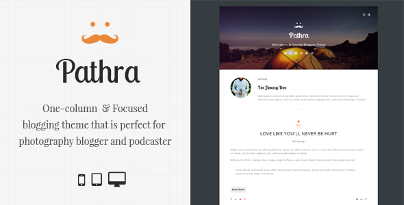 ThemeForest Pathra One-column Focused Blogging Theme 9217622