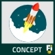 Flat Rocket Launch - GraphicRiver Item for Sale