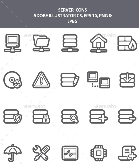 GraphicRiver Server Icons 9218257