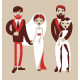 Man and Woman Getting Married - GraphicRiver Item for Sale