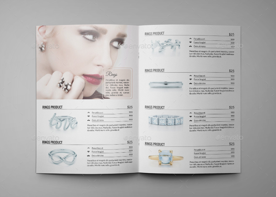 Jewelry a4 indesign catalog template hp0011 by annozio graphicriver for Catalog template indesign
