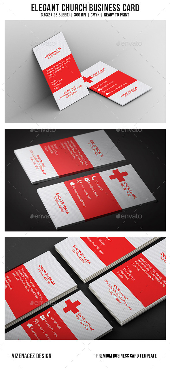 GraphicRiver Elegant Church Business Card 9218372