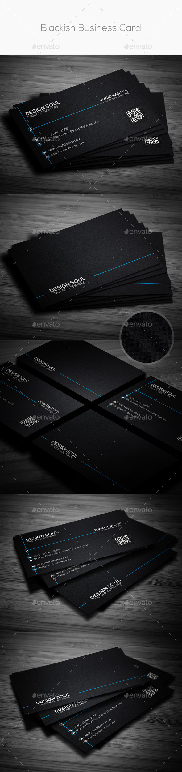 GraphicRiver Blackish Business Card 9218454