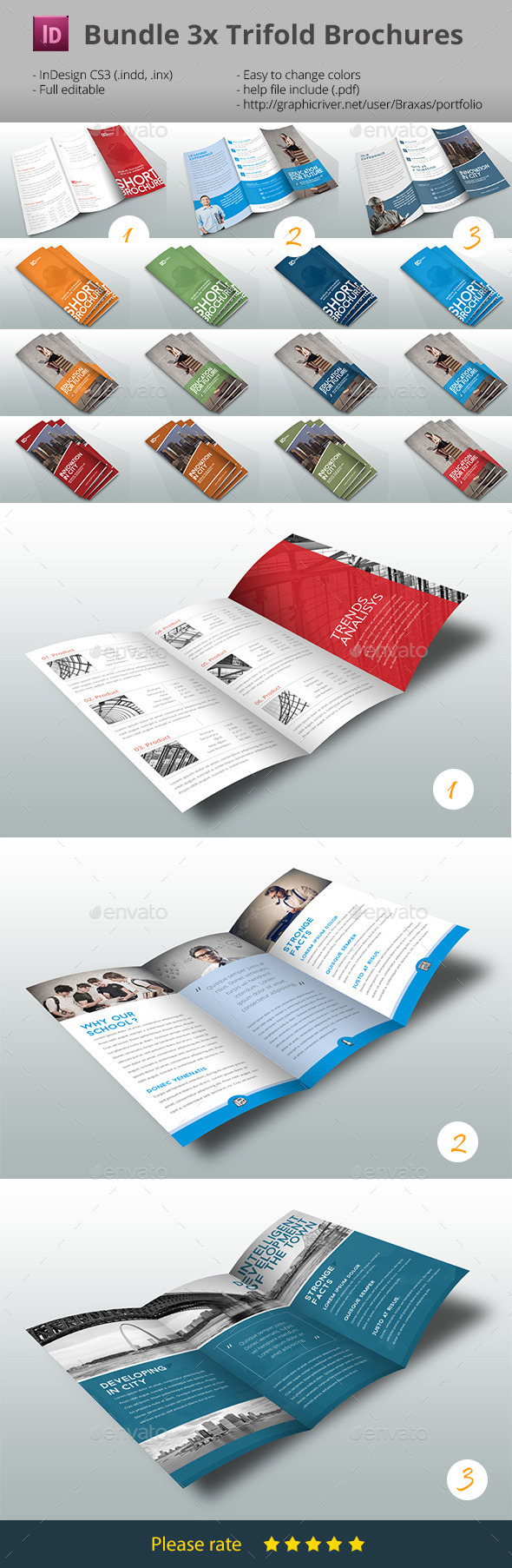 GraphicRiver Bundle Trifold Brochure Multicolor 9218458