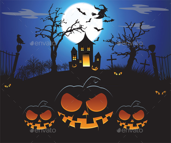 GraphicRiver Halloween 9218515