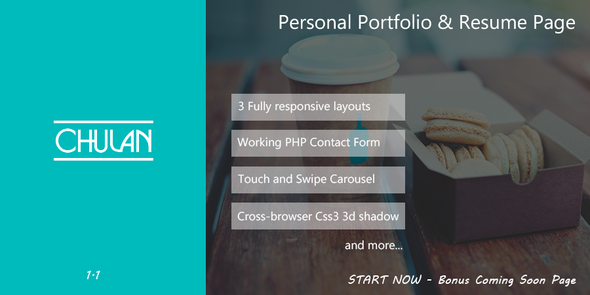 Chulan -  Personal Portfolio & Resume Page - Virtual Business Card Personal