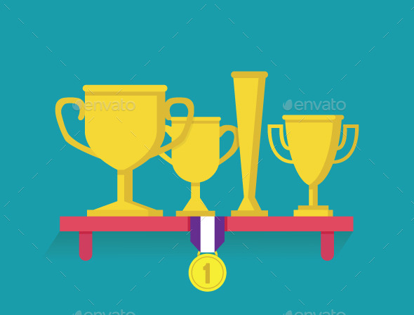 GraphicRiver Trophy and Awards on Shelf 9218659