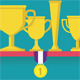 Trophy and Awards on Shelf - GraphicRiver Item for Sale
