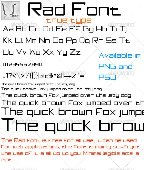GraphicRiver Rad True Type Font 118711