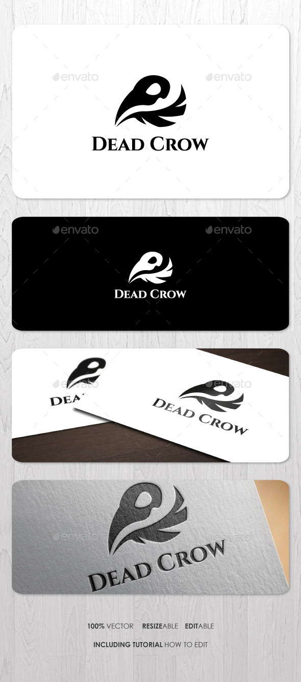 GraphicRiver Dead Crow Logo 9218689
