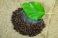 roasted coffee beans on hemp sack texture. - PhotoDune Item for Sale